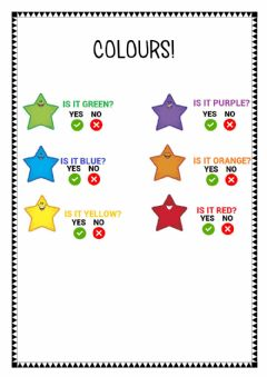 Interactive worksheet Colours!