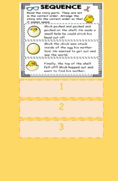 Interactive worksheet Story Sequencing Activity 3