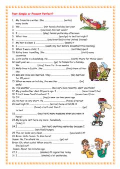 Interactive worksheet Present Perfect and Past Simple