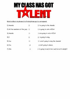 Interactive worksheet Asand's audition
