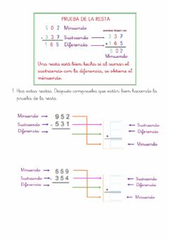Interactive worksheet Prueba de la resta