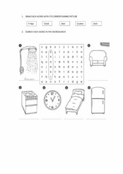 Interactive worksheet Things in our home