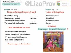 Interactive worksheet It's Raining Men by the Weather Girls