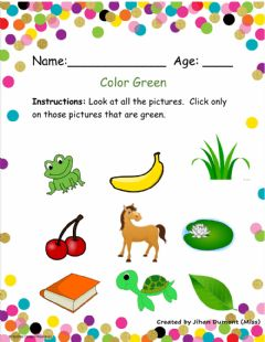 Interactive worksheet Color Green