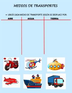 Interactive worksheet Medios de transportes