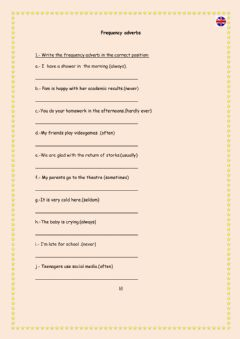 Interactive worksheet Frequency adverbs 1