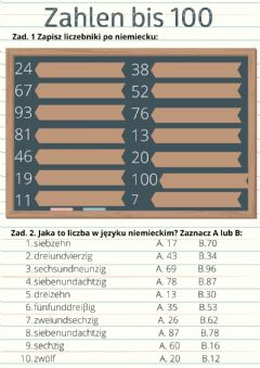 Interactive worksheet Zahlen