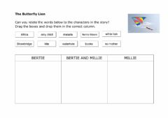 Interactive worksheet The Butterfly Lion