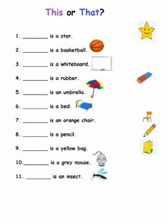 Interactive worksheet This -That