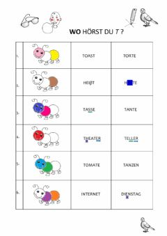 Interactive worksheet T-Raupe