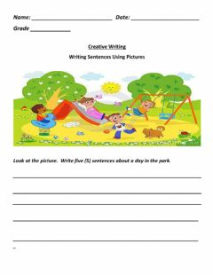Interactive worksheet Creative Writing Picture Prompt