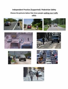 Interactive worksheet Independent Practice (Supported) - Pedestrian Safety