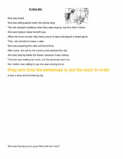 Interactive worksheet Write the story in order