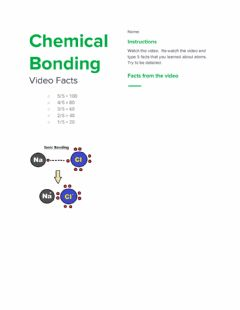 Interactive worksheet Chemical Bonding