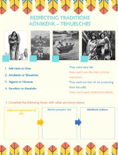 Interactive worksheet Respecting Traditions - Aónikenk people (Tehuelches)