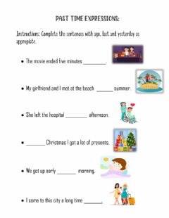 Ficha interactiva Past time expressions
