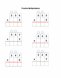 Interactive worksheet Practice multiplications