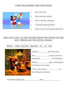 Interactive worksheet Mickey and his friends