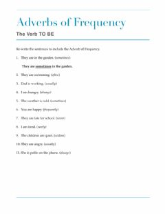 Interactive worksheet Adverbs of Frequency with the TO BE