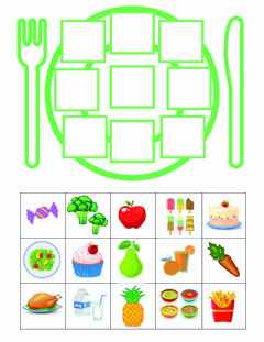 Interactive worksheet Comida saludable