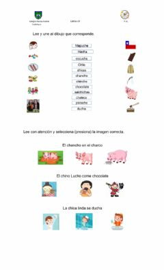 Interactive worksheet Consonante Ch