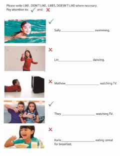 Interactive worksheet Present Simple and Continuous, Should Should, Like, Don't Liken't,