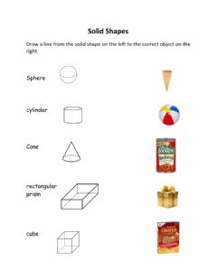 Interactive worksheet Solid Shapes
