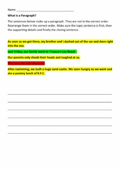 Interactive worksheet What is a Paragraph