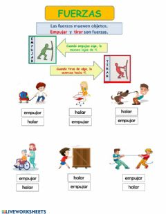 Interactive worksheet Fuerza