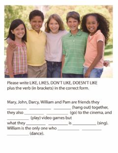 Interactive worksheet Adverbs of frequency, Comparatives, Superlatives, Present Simple and Continuous Like and Don't Like