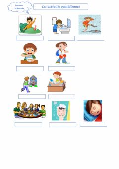 Interactive worksheet Routine