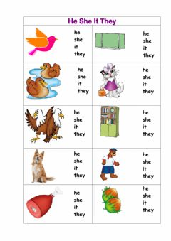 Interactive worksheet READ Unit 2 HE SHE IT THEY