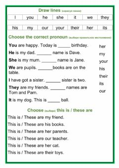 Ficha interactiva Pronouns-this is-these are