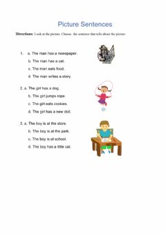 Interactive worksheet Look and write