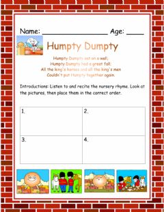 Interactive worksheet Humpty Dumpty
