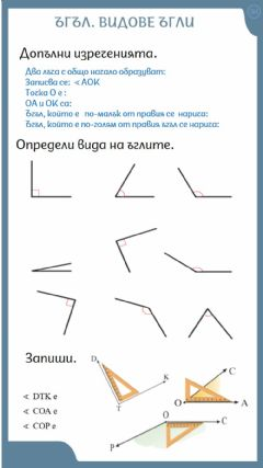 Interactive worksheet Видове ъгли