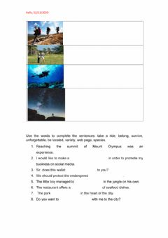 Interactive worksheet Tech it easy 3 Lesson 10 Dictation