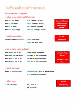 Interactive worksheet Let's ask and answer