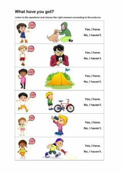 Interactive worksheet What have you got?