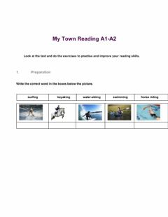 Ficha interactiva My Town, Reading A1-A2