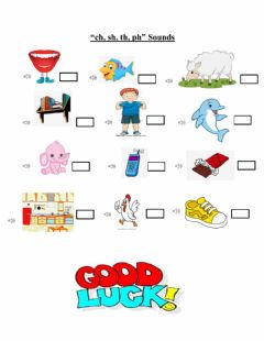 Interactive worksheet Ch sh ph th sounds