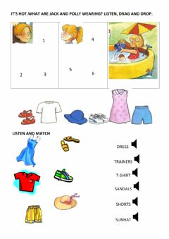 Interactive worksheet 2nd Grade - Clothes