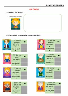 Interactive worksheet Is she her mother?