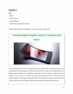 Interactive worksheet Unit 6, Text 3: The future of cellphones