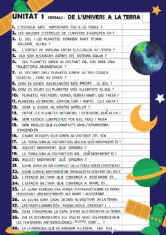 Interactive worksheet De l-univers a la terra