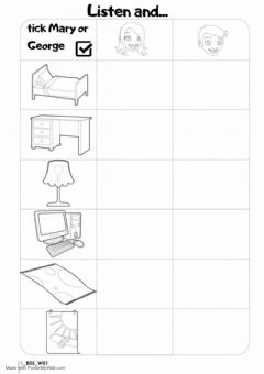 Interactive worksheet My Room 2