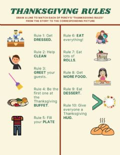 Interactive worksheet Thanksgiving Rules