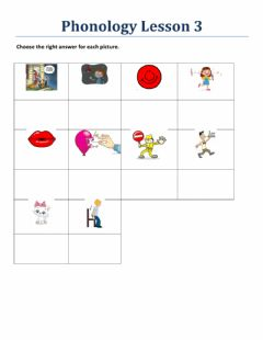 Interactive worksheet Phonology Lesson 3 Book 2