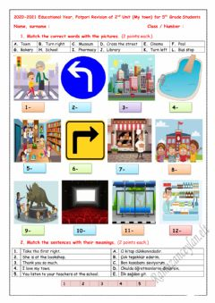 Interactive worksheet 5.2.My Town Quiz