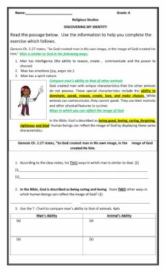 Interactive worksheet Discovering My Identity